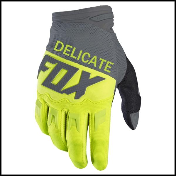 Delicate Fox Motorbike MTB Bike Dirtpaw Racing Glove Enduro Race MX Yellow Gloves