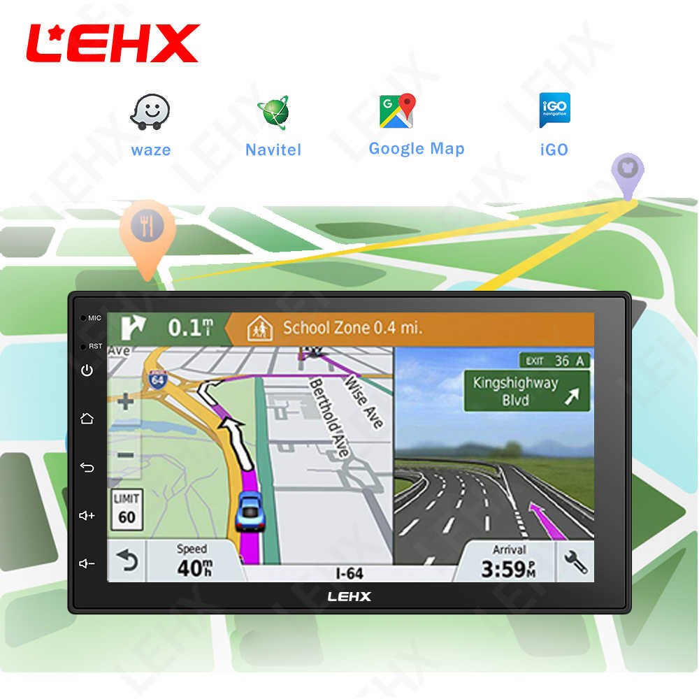 Lehx Dubbel Din Universele 7 Inch Android 8.1 Auto Radio Gps Multimedia Unit Speler Voor Toyota Nissan Kia RAV4 Honda vw Hyundai