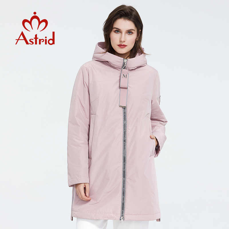 Astrid 2020 Musim Semi Baru Wanita Jaket Pakaian Berkualitas Tinggi Ukuran Panjang Gaya dengan Zipper Fashion Wanita AM-8608