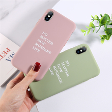 ottwn English Words Silicone Case For iPhone 7 6 6S Plus Soft TPU Phone XS Max XR X 8 Back Cover Coque
