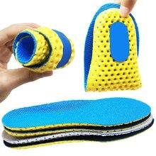 Nuevas plantillas para zapatos suela de malla transpirable almohadilla desodorante plantillas para correr para pies hombre mujer plantillas de espuma viscoelástica ortopédica