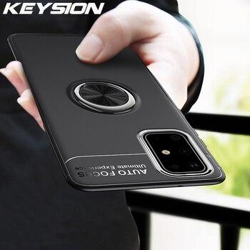 Чехол KEYSION с кольцом для телефона Samsung S20 Ultra S10 Lite Note 20 10 Plus, противоударный чехол для A51 A71 A41 A31 A21S A01 A70 A50 M31