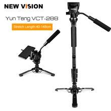 """Yunteng VCT 288 Kamera Monopod + Sıvı Pan Kafa + Unipod Tutucu Canon Nikon ve tüm DSLR kameralar için 1/4"""" dağı Ücretsiz Kargo"""