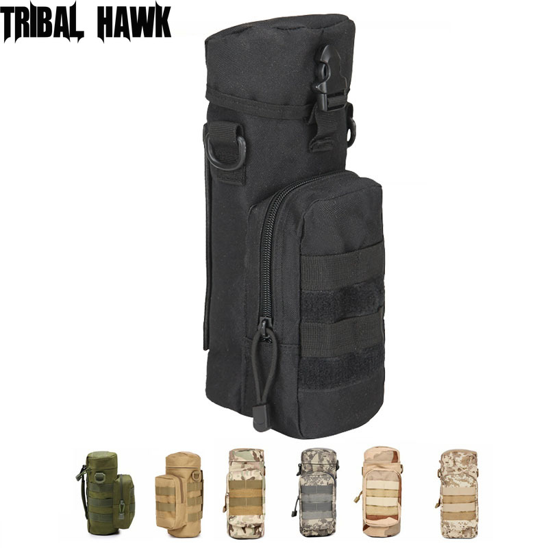 Outdoors Molle Water Bottle Bag Tactical Gear Army Climbing Camping Hiking Hunting Backpack Accessories Waist Kettle Pouch