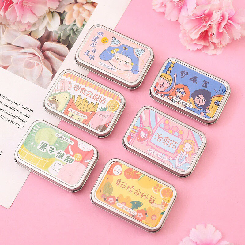 60Pcs Kawaii Cartoon Stationery Sticker Cute Decorative Stickers Paper Adhesive Sticker For Kids DIY Scrapbooking Diary Supplies