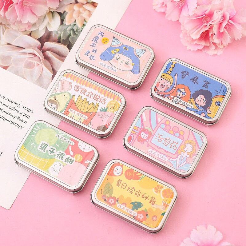 60Pcs Kawaii Cartoon Stationery Sticker Cute Decorative Stickers Paper Adhesive Sticker For Kids DIY Scrapbooking Diary Supplies
