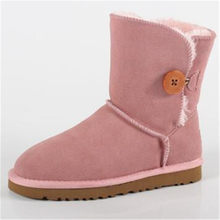 2019 chaussures femme bottes d'hiver femmes chaussures zapato mujer buty cuir cheville neige bottes femmes chaussure mode australie pluie bot peluche(China)