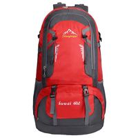60L Waterproof Outdoor Backpack Sports Bag for Hiking Travel Mountaineering Rock Climbing Trekking Camping red