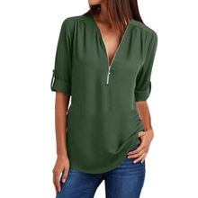Summer Shirt Women Chiffon Blouse Casual