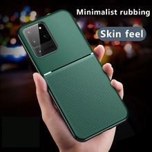 Coque de téléphone de luxe en Silicone magnétique, étui Ultra-mince en cuir pour Samsung Galaxy S20 s10e S9 S8 Note 10 9 8 Plus A 10 50