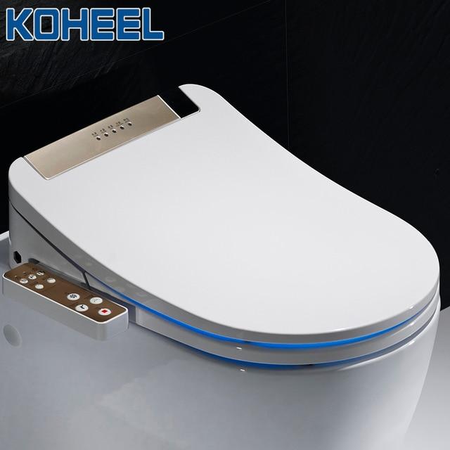 KOHEEL bathroom smart toilet seat cover electronic bidet clean dry seat heating wc gold intelligent led light toilet seat