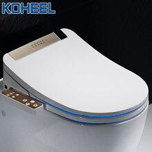 Koheel浴室スマート便座カバー電子ビデクリーンドライシート加熱wcゴールドインテリジェントledライト便座