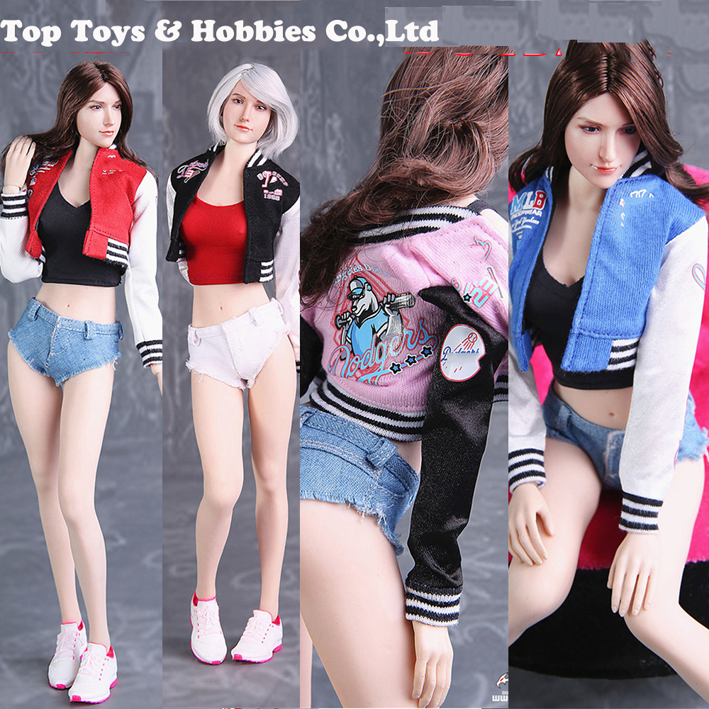 In Stock Baseball Uniform Suit FG075 1/6 Female Figure Clothes Sweater Shorts Set For 12