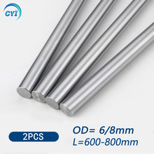 2Pcs 6mm 8mm Linear Shaft Guide Rail 3d Printer Parts Cylinder Chrome Plated Liner Rods Axis Linear Shaft Round Rod L600 700 800