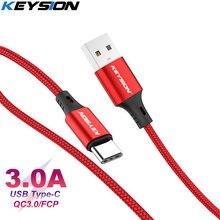 KEYSION 3A USB Type C câble fil de charge rapide pour Samsung S9 Xiaomi USB C câble de données câble de chargeur de téléphone rapide type-c câble USB