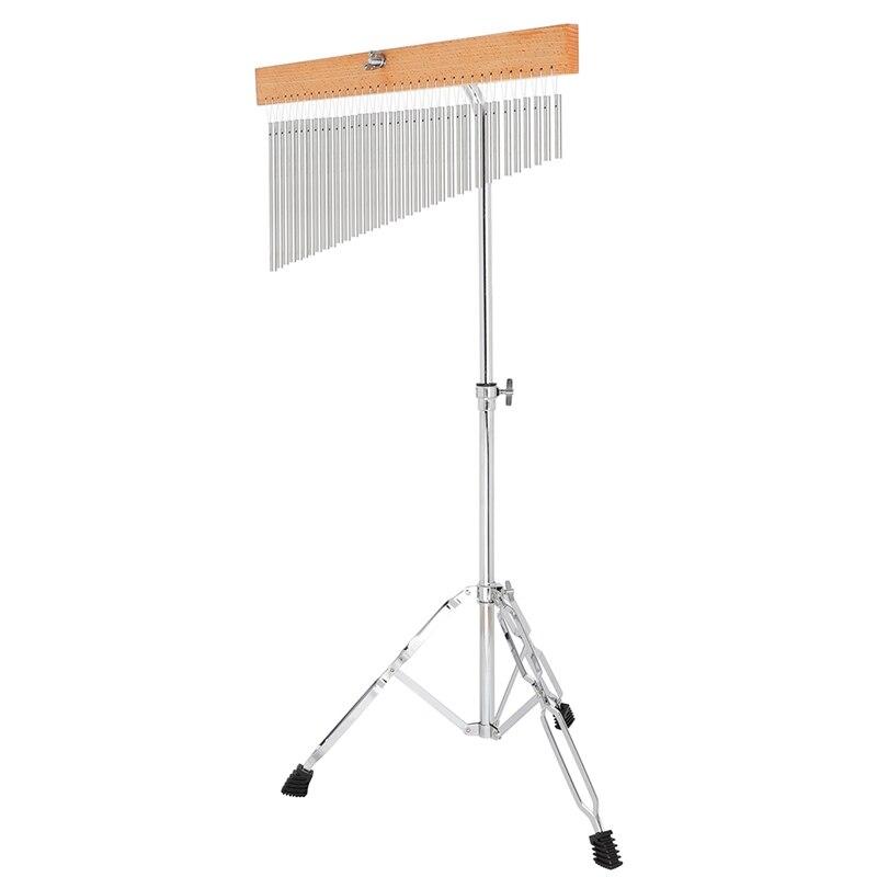 Muzikale Bel 36 Tone Wind Chime Silver Bars Single Rij Wind Chime Muzikale Percussie Instrument Met Statief En striker - 2