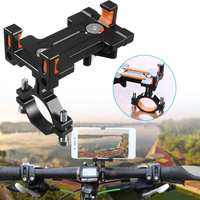 MTB 자전거 사이클링 아이폰 XS MAS 샤오미 9 알루미늄 합금 오토바이 핸들 막대 홀더 지원 GPS
