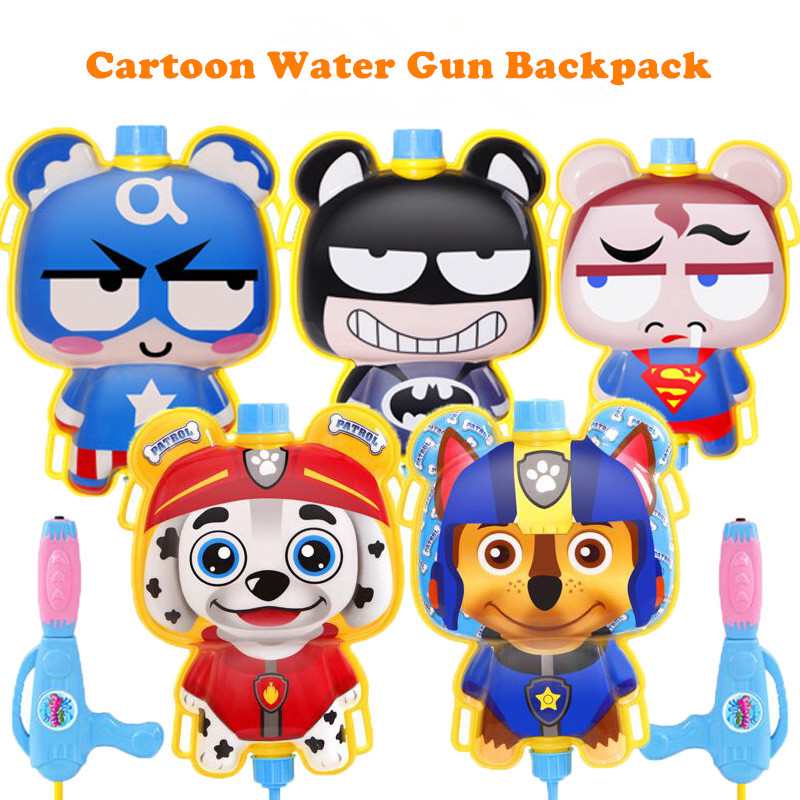 Children Water Gun Toys Cute Animals Backpack Water Gun Beach Squirt Toy Pistol Spray Water Gun Outdoor Toy Kids Gift
