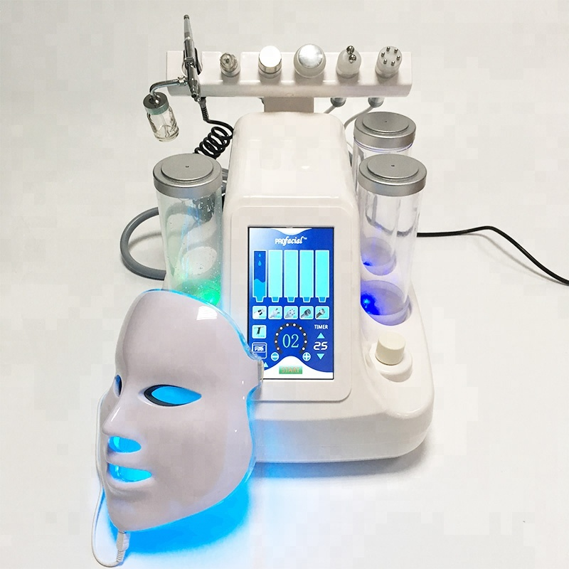 7 In 1 Hydra Dermabrasion Aqua Peel Clean Skin Care BIO Light RF Vacuum Face Cleaning Hydro Water Oxygen Jet Peel Machine