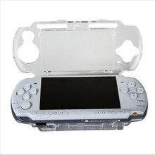 Capa dura transparente para console sony, proteção corporal de cristal para playstation portátil psp 2000 3000