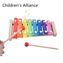 лучшая цена Baby Early Musical Instrument Hand Knock Piano Animal Multicolor Xylophon Develop music Toy For Children Gifts