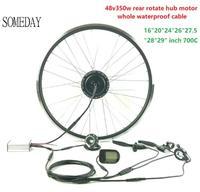 Mejor Algún día kit de conversión de bicicleta eléctrica 48V350W EBIKE trasero cassette hub motorwith LCD5 pantalla