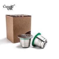Nespresso aço inoxidável recarregável café cápsula tamper café reutilizável café pod negócio aniversário coffeeware presente