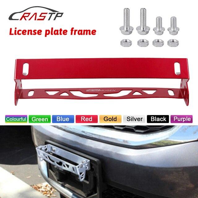 RASTP Universal Aluminium Auto Styling Kennzeichen Rahmen Einstellbare Racing Kennzeichen Rahmen Rahmen Tag Halter RS BTD012