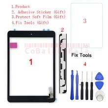 Panel de cristal con Sensor de Digitalizador de pantalla táctil, reemplazo de botón para iPad Mini 1 Mini 2 A1432 A1454 A1455 A1489 A1490 A1491, 1 Uds.