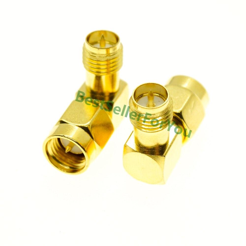 SMA Male Plug To RP-SMA Female RPSMA Jack Right Angle 90 RIGHT ANGLE RF Adapter Connector