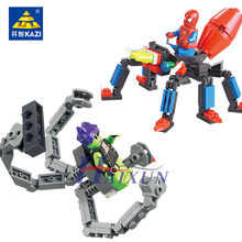 143Pcs Spiderman VS Green Monsters Model Super Heroes War Building Blocks Sets DIY LegoINGLs Juguetes Bricks Toys for Children(China)