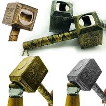 цена на aa Silver Beer Bottle Openers Multifunction Hammer Of Thor Shaped Beer Bottle Opener With Long Handle Bottler Opener Beer
