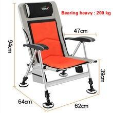 Cadeira de pesca cadeira de praia forte cadeira de carga ao ar livre dobrável cadeira de pesca conjunto reclinável multi-função cadeira de pesca