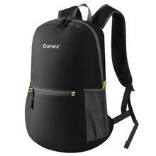 Gonex 20L сверхлегкий рюкзак, складной рюкзак, нейлоновая черная сумка для школы, Путешествий, Походов, спорта на открытом воздухе,, для семейного отдыха