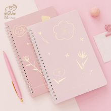 Kawaii Stationery Cherry Blossom Cover A5 Spiral Book Coil Notebook To-Do Lined  Sketchbook for School Supplies 80sheets