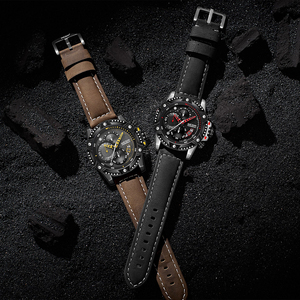 Image 4 - MEGIR Creative Wristwatch Man Watch Waterproof Leather Mens Watches Top Brand Luxury Chronograph Sport Watch Relogio Masculino