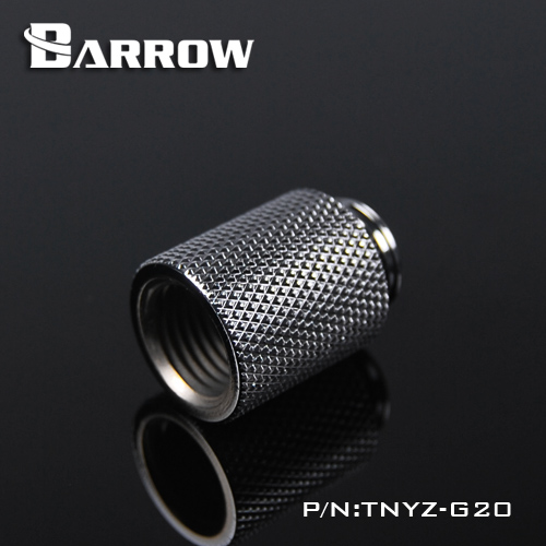 Barrow TNYZ-G20, 20mm Male To Female Extender Fittings, G1 / 4 Male To Female Water Cooling Fittings One Connect