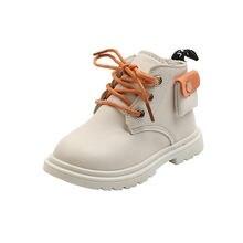 Обувь для детей; Зимние ботинки малышей; Черные резиновые кожаные