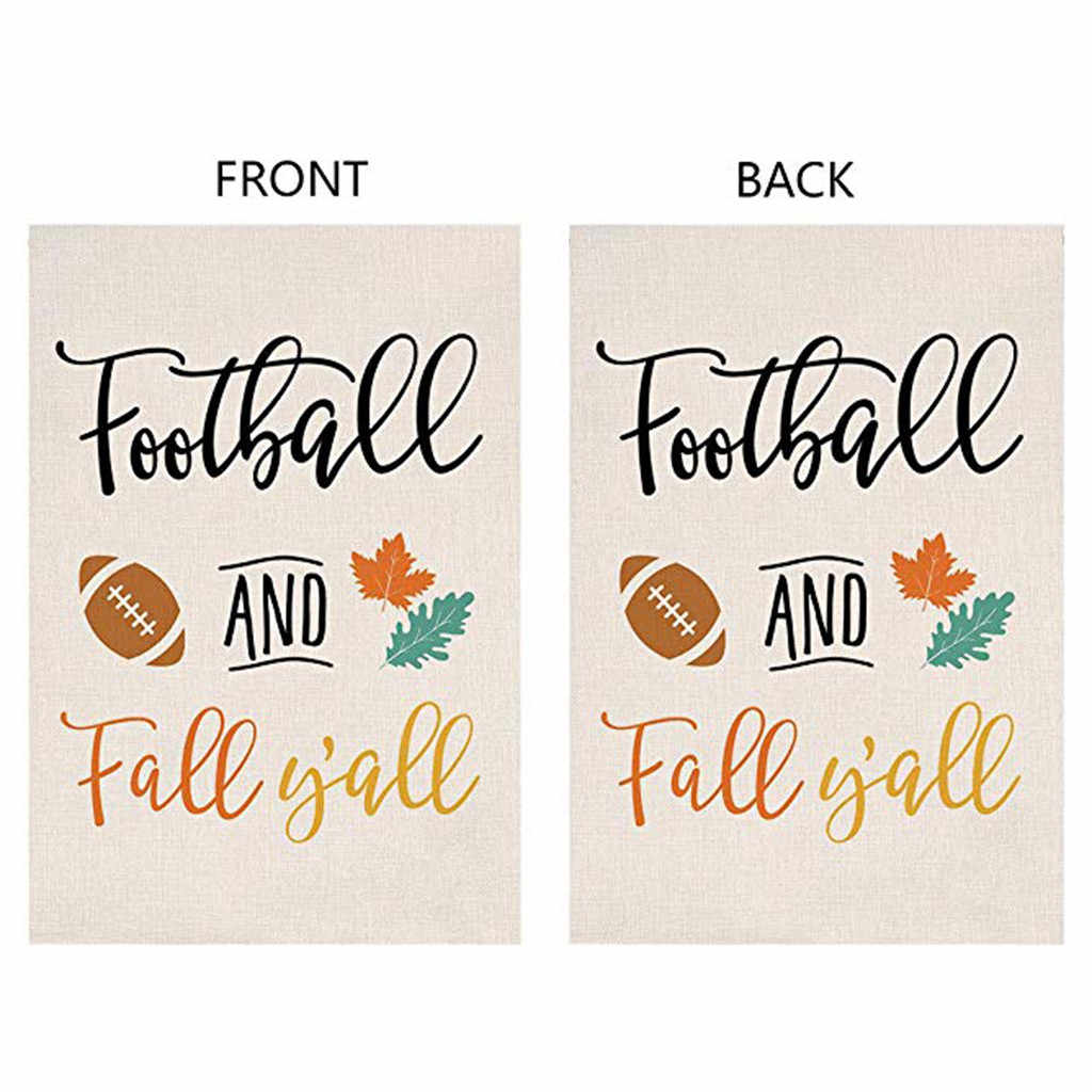Home Decor Football And Fall Y All Small Garden Flags And Banners