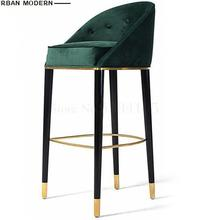 Americano sólido silla bar madera retro Europea creativa alta taburete moderno minimalista moda bar silla Silla de bar