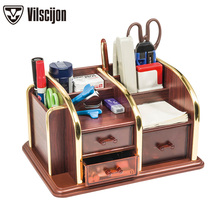 Desktop Accessories Makeups Organizer Storage Stationery Holders Multifunctional Cosmetic Pen Holder Vilscijon C2025