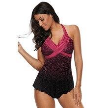 цена на Two-Piece Swimsuits Polka Dot Gradient Swimsuit Two-Piece Swimsuit Women beachwear swimwear 2 pieces