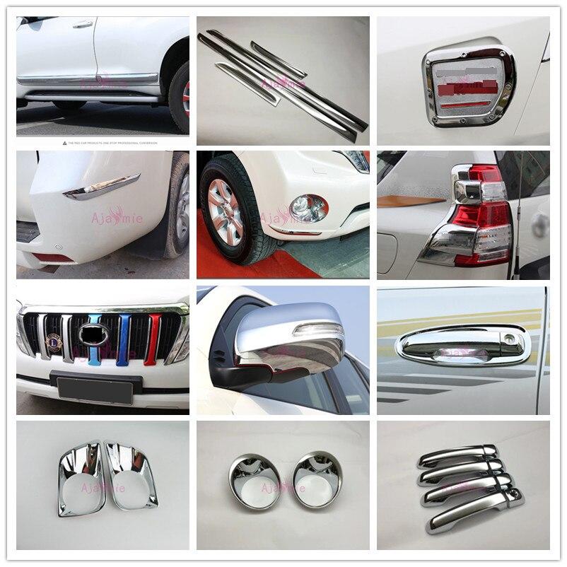 Para Toyota Land Cruiser 150 Prado LC150 FJ150 2010-2017 Lâmpada Maçaneta Da porta Tampa Espelho Guarnição Grade Do Carro Cromo -Styling Acessórios