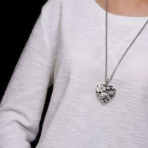 Image 3 - Sterling Silber 990 Anhänger Herz Geformt Fisch Und Lotus Carving Personalisierte Halsketten & Anhänger Geschenke Für Frauen Edlen Schmuck
