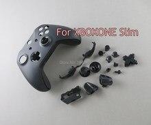 3 JOGOS Para Xbox One S Slim cores Matte Caso Shell Botão Personalizado Completo Para XboxOne Fino Tampa do Controlador Sem Fio substituição