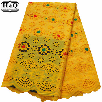 Swiss Voile Lace Fabric Beautiful Punched African Dry Lace Fabric Nigerian Embroidered Hollow Out Lace With Stones For Dresses