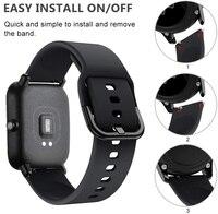 20mm/22mm Silicone band For Amazfit GTS/2/2e/GTS2 Mini/GTR 42mm/47mm/GTR2/2e/stratos 2/3 Sport Watch Bracelet Amazfit bip strap 2