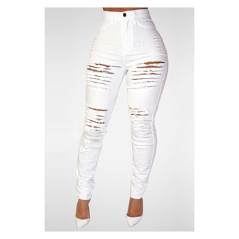 Stacked Sweatpants Cargo Pants Women  All Matching Personalized Ripped Ripped Slim Fit Stretch High Waist Denim Skinny Pants ripped denim grab bag