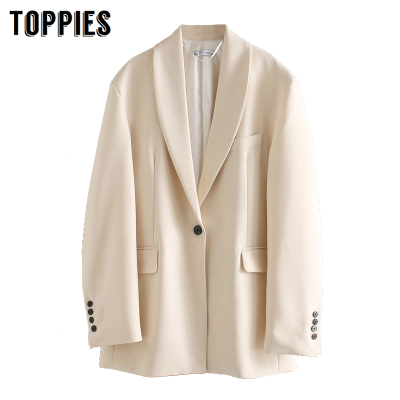 Women Blazer Ladies Formal Suit Jacket Single Button Coat 2020 Ladies Tops Solid Color Jacket