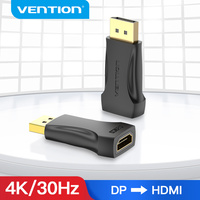 Vention-Puerto de pantalla HDMI 4K macho a DP a HDMI hembra, convertidor de Audio para proyector para PC TV DisplayPort a HDMI